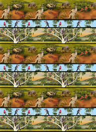 Cotton-Fabric-Australiana-animals