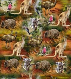 Cotton-Fabric-animals-australia