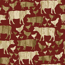 Farm-Animals-Cotton-Fabric