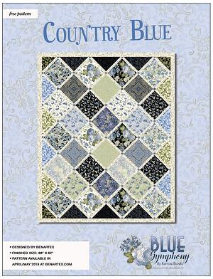 Country Blue Symphony 9002 Quilt Pattern-1