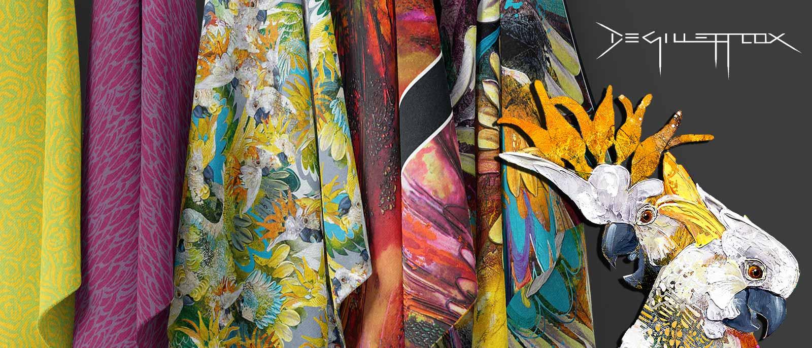 Hanging Fabric Mockup Cockatoo Chatter Blog Header